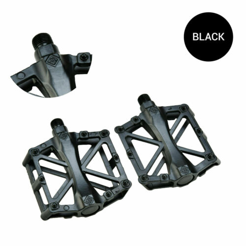 One Pair Mountain Road Bike Bicycle Aluminum Alloy Platform Bearing Pedals 9//16/""