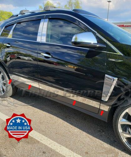 "2010-2016 Cadillac SRX 8Pc Body Side Molding Rocker Panel Trim Stainless 3/"" Flat"