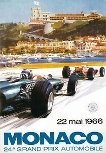 AV94-Vintage-1966-24th-Monaco-Grand-Prix-Motor-Racing-Poster-Re-print-A3-A4