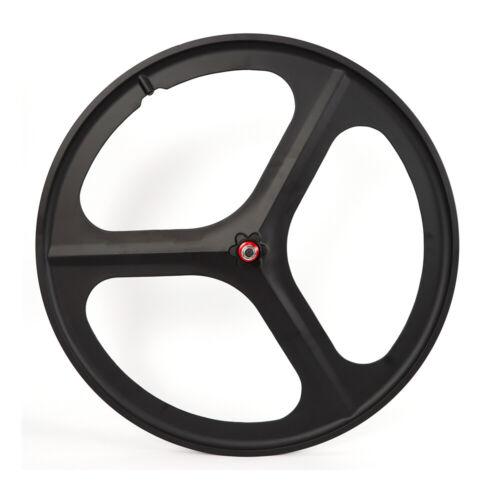 Front Set Tri Spoke Carbon Wheel Road Bike 700C 3 Spoke Bicycle Wheel Clincher