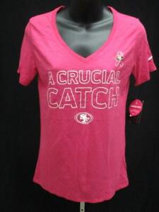 San-Francisco-49ers-Femmes-Taille-M-Rose-Crucial-Catch-Nike-Chemise-Msrp