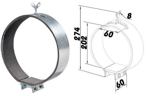 Tubo Morsetto Tubo Morsetto Tubo di Ventilazione fasciatoio PIEGA TUBO ARIA DI SCARICO mcg ø200 3295