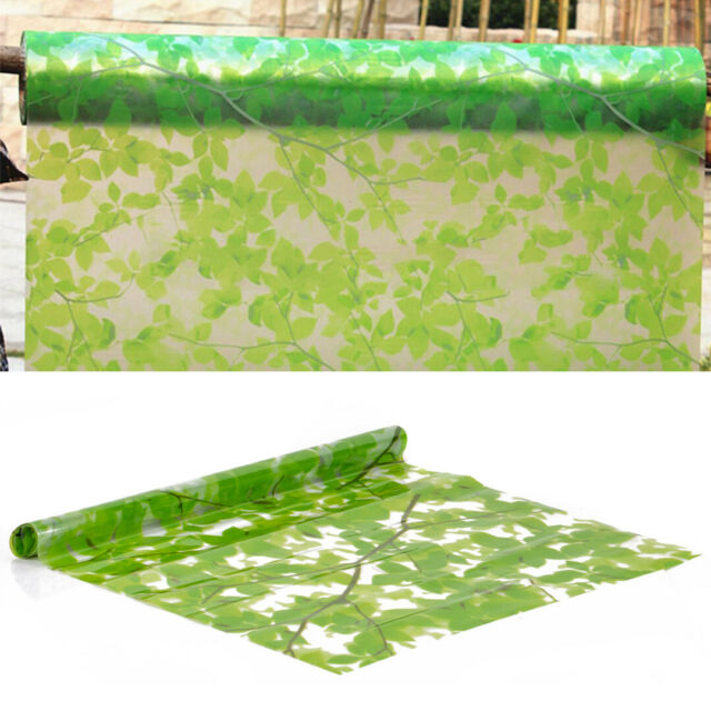 Green Leaves Glass Frosted Window Film Sticker Room Privacy Protection 45*200cm