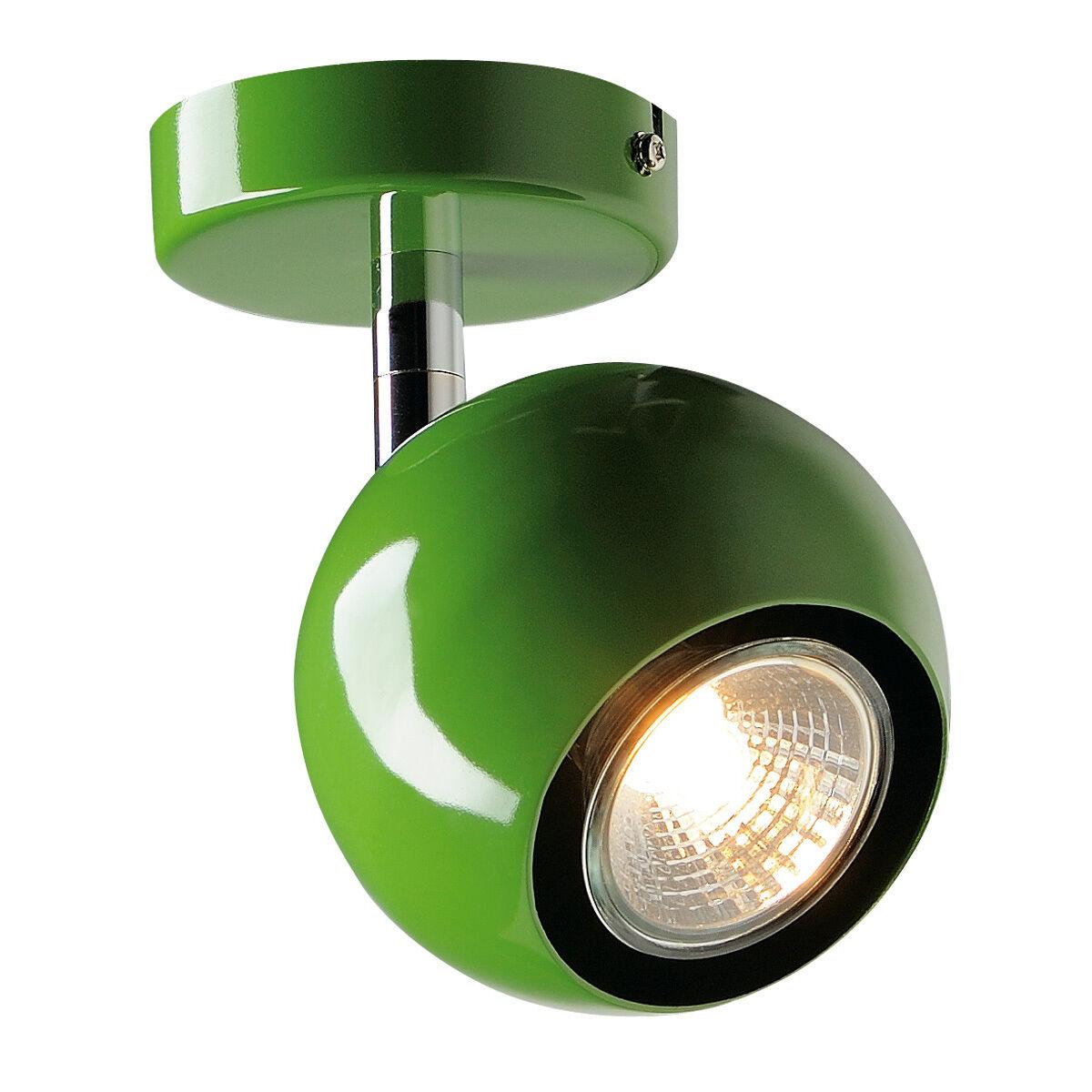 Intalite Luz Ojo 1 GU10 Luz de Parojo Y Techo, Helecho verde, GU10, Max. 50W