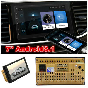 """2DIN Android 8.1 BT Car Stereo Radio 7/"""" HD Screen MP5 WIFI 4G FM Player GPS Unit"""