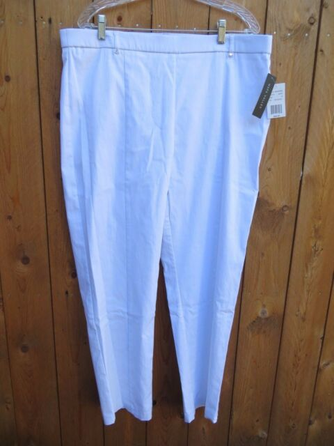 Ladies White Heavier Weight Stretch Pants Napa Valley Boscov's Size 18