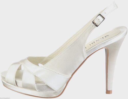 6 Schuhe 7 Aurora Slingback 108 Rrp Menbur 8 £ Elfenbein Bnwb 4556 Größe Braut Hochzeit Txt7x