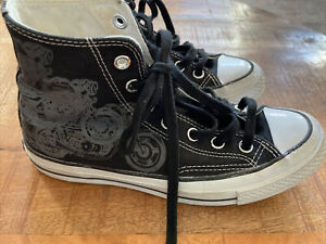 Details about Kid's Converse Size 5 Chuck Taylor Warhol Motorcycle Black Fits Like Women's 6