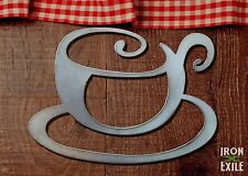 Tea Coffee Cup Mug Metal Kitchen Wall Art Decor Sign Home Hot Java Mocha Latte