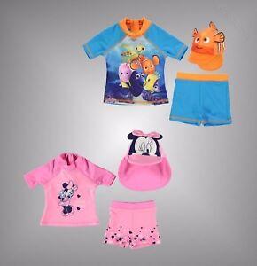 Bebes-filles-garcons-de-marque-Caractere-Disney-Imprimer-3-pieces-Swim-Set-Taille-0-24-GTIE