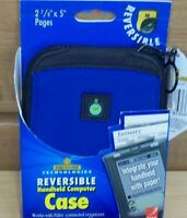 Palm Day-timer Reversible Blue Handheld Palm Case Free Ship Reduced Price