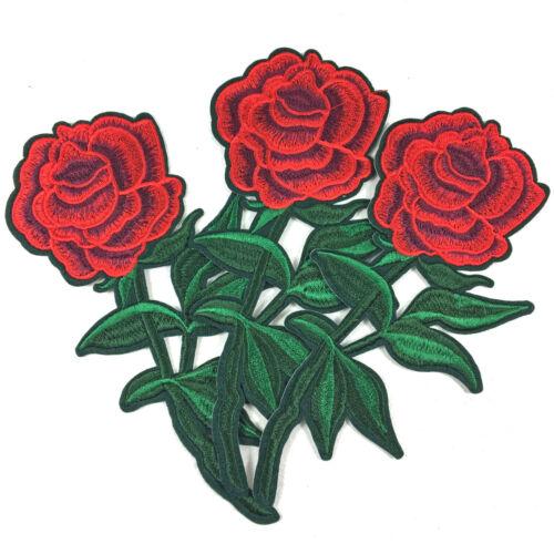 Fleurs Rose Aufbügler Bügelbild patchs à repasser patchwork aufnäherbild Application