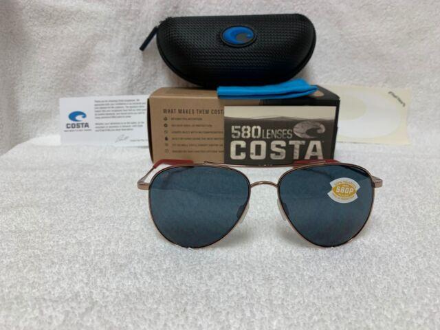 cf6869118c4 NEW Costa Del Mar Cook Polarized Sunglasses Rose Gold Gray 580P COO 164 OGP