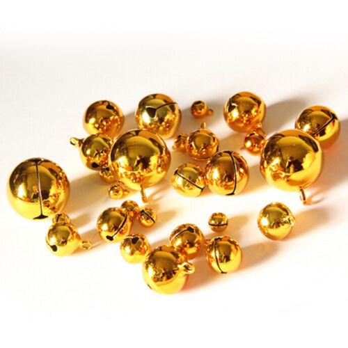 10pcs Small Gold Jingle Bell Copper Metal Fit Festival Jewelry Pendants Decor /_K