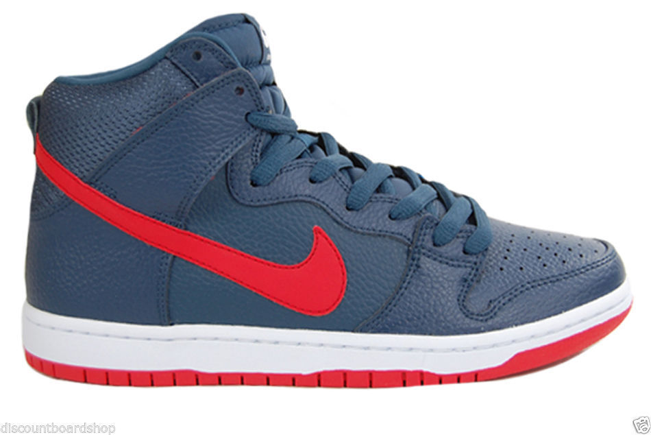 Nike DUNK HIGH PRO SB Squadron Blue Red White Discounted Price reduction Men's Shoes Cheap women's shoes women's shoes