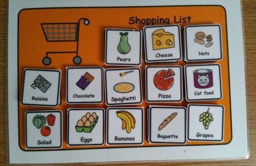 A5 Shopping List /& 80 Symbols Visual Aid Pre School//Autism//ASC//ASD//ADHD//SEN