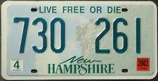 TARGA ORIGINALE USA New Hampshire 2002 plaque d'immatriculation TARGA