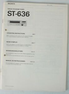 Service-Manual-Sony-ST-636-Bedienungsanleitung-Tuner-Mode-D-039-Emploi-B7420