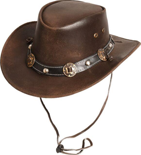 Westernhut Country Hut Leder Cowboyhut »CONCHO« Scippis Earth Braun Tan Schwarz