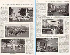 1899-BOER-WAR-THE-ROYAL-MARINE-DEPOT-AT-WALMER-3-GYMNASTICS-BILLIARD-ROOM