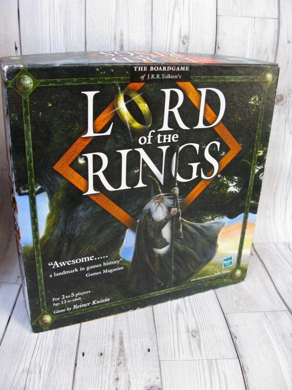Lord of the Rings Board Game Complete Hasbro JRR Tolkien Family Fun Rare VGC