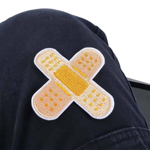 3Pcs//Set à Coudre-Sur Badge Autocollant Apparel appliqué Band-Aid Patch Fer-Sur Tissu