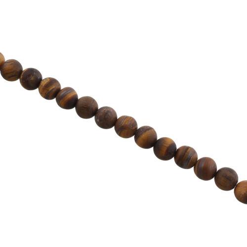 45 Edelsteine Tigerauge Perlen Matt 8mm Natur Schmuckherstellung A Grade G801#3