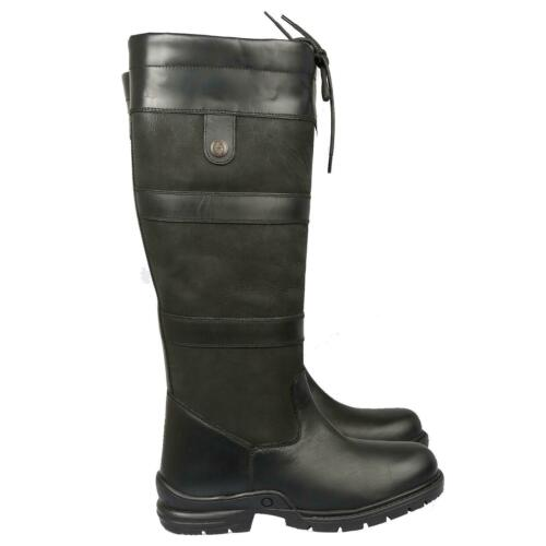 Ladies Mens Horse Riding Long Waterproof Leather Walking Outdoor Boots All Sizes