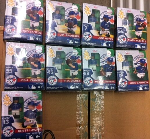 OYO MLB - 2013 (G2LE Series 1) Toronto Blau Jays Set of 9 Figures NEW