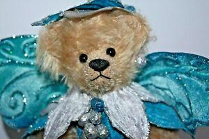 OOAK-Beautiful-Mohair-Artist-Teddy-Bear-034-Aqua-034-Angel-by-Martha-Burch-10-034