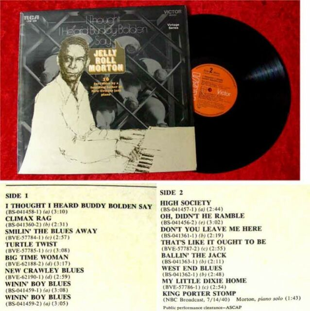 LP Jelly Roll Morton I Thought I Heard Buddy Bolden Say