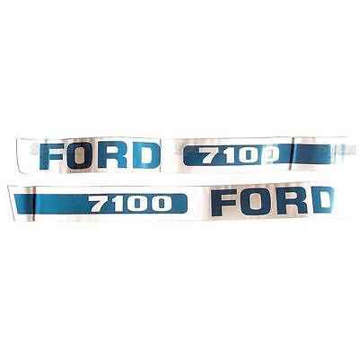 Ford 2600 Traktor Basic Haube Aufkleber Set Emblem Set