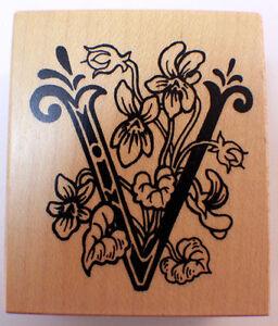 Psx f1121 botanical letter v flower alphabet monogram wooden rubber image is loading psx f1121 botanical letter v flower alphabet monogram thecheapjerseys Gallery