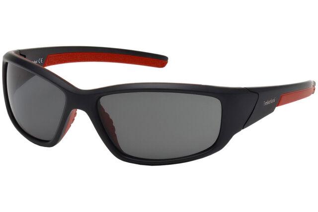 NWT TIMBERLAND Sunglasses TB 9049 02D Polarized Matte Black Smoke 62 mm NIB