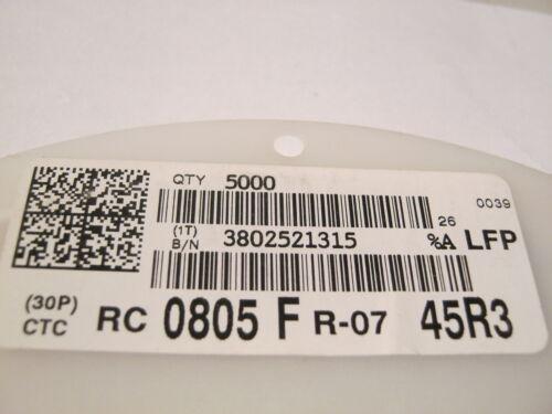 5000 x Resistor 45r3 SMD 0805 1/% rc0805fr-0745r3l 1 Roll 5000 Piece = 3,98 €