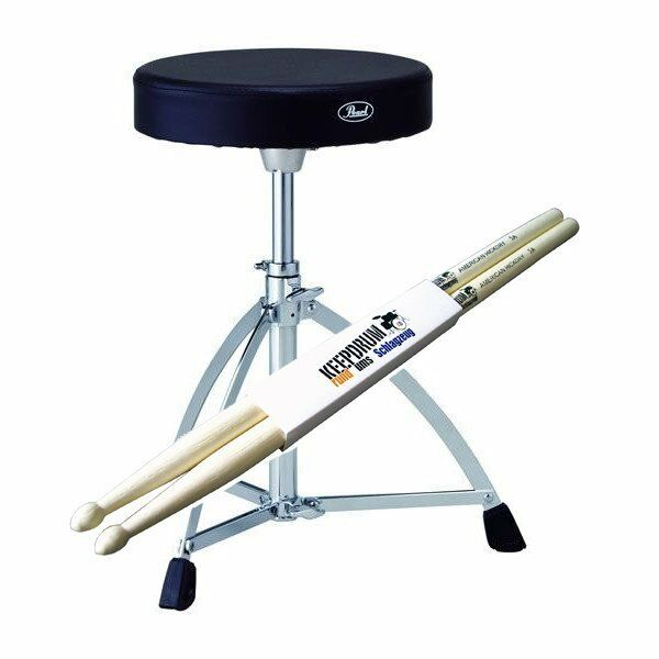 Pearl D-730S Drum-Hocker + Drumsticks