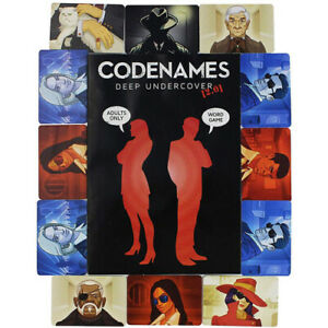 Codenames Deep Undercover Version 2 Board Game Adult Party Game Ages 18 and Up