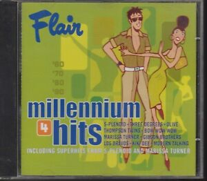 FLAIR-cd-Millenium-hits-4-Three-Degrees-Los-Bravos-Gibson-Brothers-Thompson-Twin