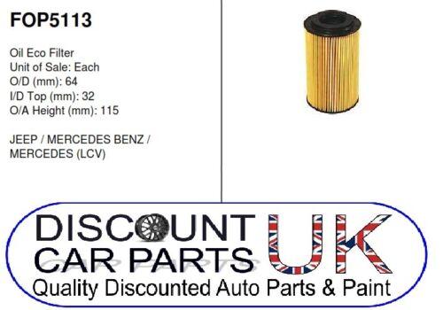 1//0 Car Engine Oil Filter Mercedes Benz M Class  ML270 CDi 2.7D 20v 2685 Diesel