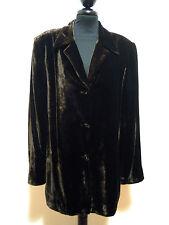 LUISA SPAGNOLI Giacca Donna Velluto Liscio Velvet Woman Jacket Sz.L - 46