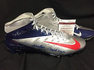 Y.A. Tittle Signed Nike Football Cleats