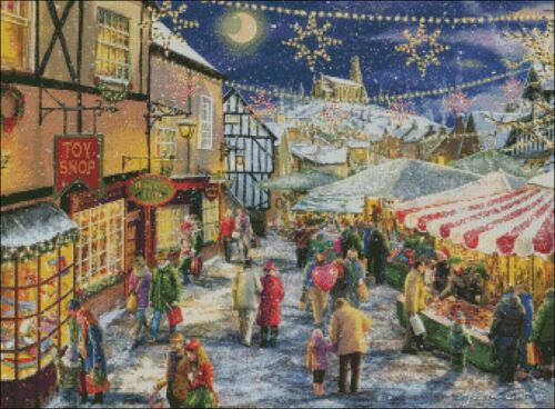 Christmas Festival DIY Chart Counted Cross Stitch Patterns Needlework DMC