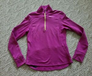 EUC Sugoi Women's Long Sleeve Cycling Jersey Sz Medium M Color Pink 1/2 Zip