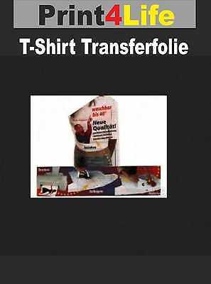5x T-Shirt Transfer Transferfolie Transferpapier Transfer Folie A4 hell Inkjet