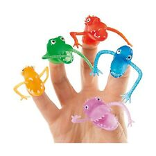 12x Novelty Finger Fright Monster Rubber Puppets Party Bag Stocking Filler Toys