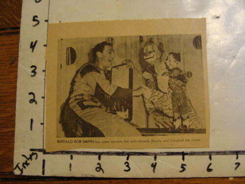 Vintage Puppet Marionette Paper:Howdy Doody clipping #5 BUFFALO BOB SMITH
