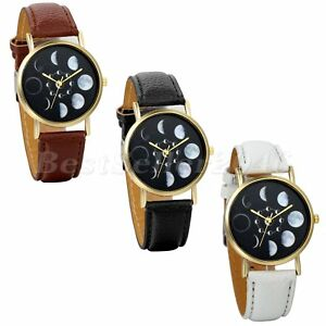 Unisex-Moon-Phase-Astronomy-Space-Watch-Faux-Leather-Band-Quartz-Wrist-Watch