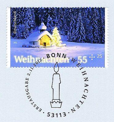 Brd 2012: Weihnachten Nr 2961 Mit Sauberem Bonner Ersttagssonderstempel! 1a 1701