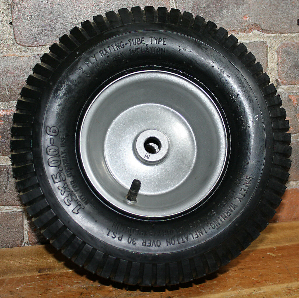 2x 13x5.00-6 Tubo Tipo Turf neumático con rodadura -2 capas (en el borde) 3 4 pulgadas x 3  Ch   Hub longitud