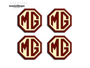 MG-ZR-Alloy-Wheel-Centre-Caps-Badges-Burgundy-amp-Cream-45mm-Hub-Cap-Badge